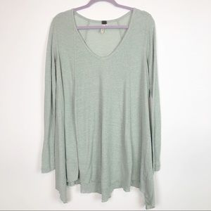 Free People Oversized Waffle Knit Top